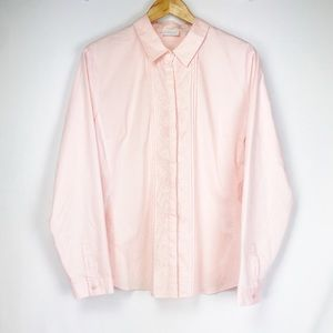 NY & CO Pink Button Down Blouse ✨